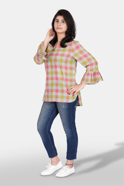 Handloom cotton tunic top