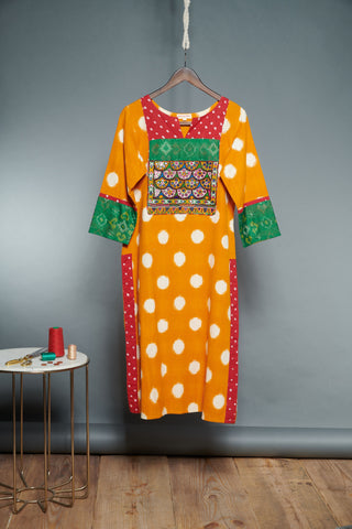 Double Ikat Kurta