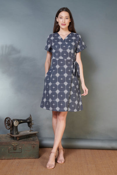 Double Ikat Wrap Dress