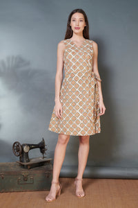 Kalamakari Wrap Dress