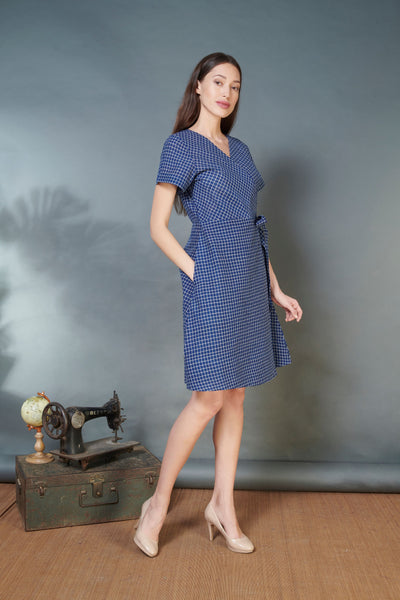 Handwoven Cotton Wrap Dress