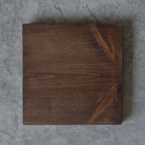 pine wood stained in brown walnut colour