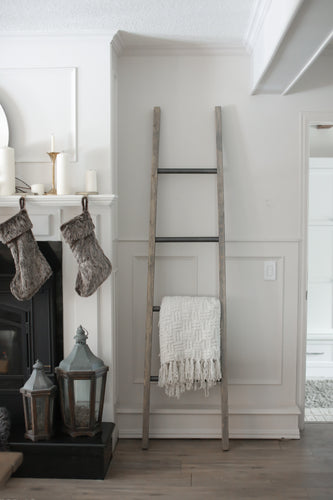 Heritage Ladder . Weathered Oak w Charcoal