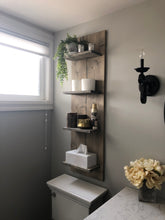 Load image into Gallery viewer, Farmhouse Wall 4 Shelf