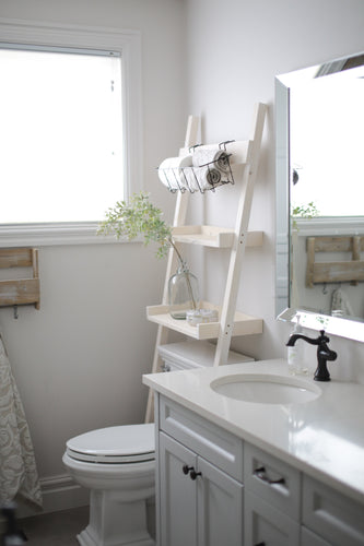 Bathroom ladder 2 shelf