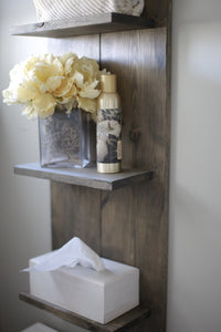 Farmhouse wall 4 shelf