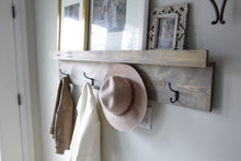 Load image into Gallery viewer, Photo ledge & coat hooks