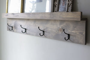 Heritage Photo Ledge & Coat Hooks