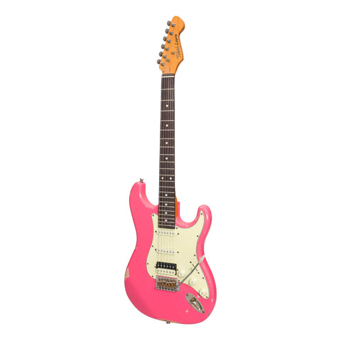 Tokai 'Legacy Series' ST-Style HSS 'Relic' Electric Guitar (Pink)