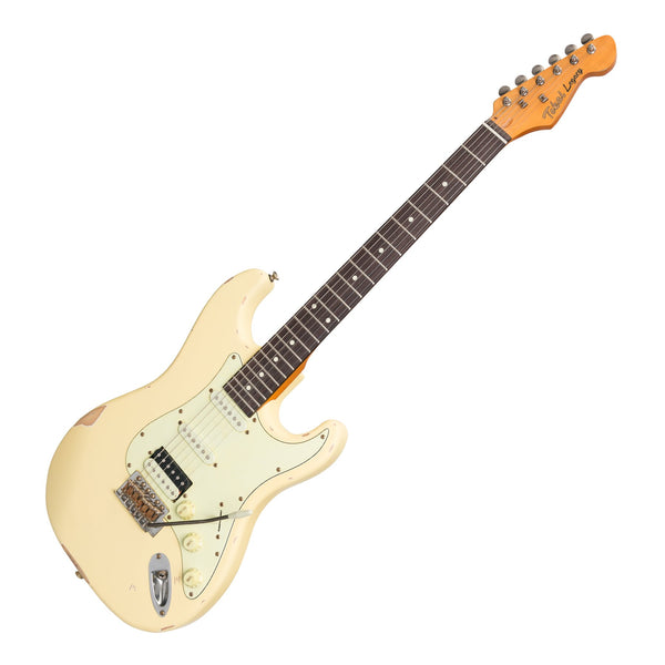 Tokai 'Legacy Series' ST-Style HSS 'Relic' Electric Guitar (Cream)