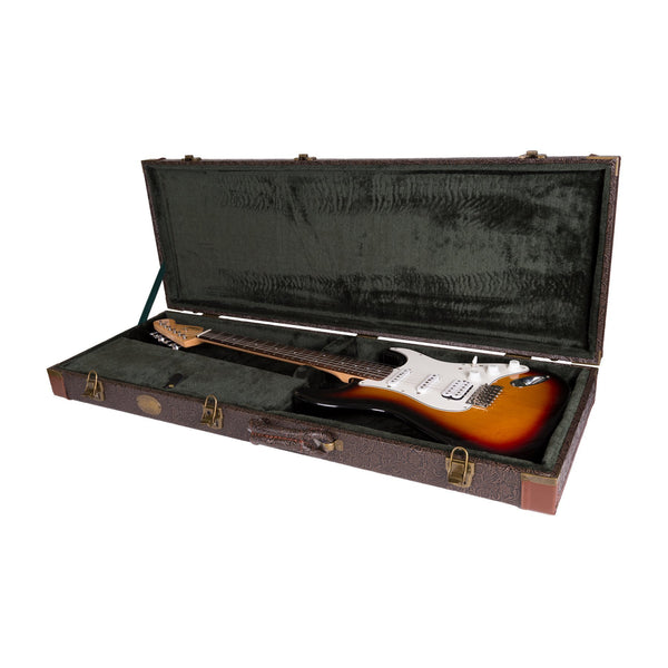 Tokai Deluxe Rectangular ST and TL Style Guitar Hard Case-TC-ESQ-PASDBRN