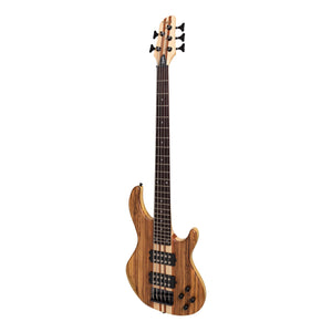 Tokai 'Legacy Series' 5-String Ash & Zebrano Neck-Through Contemporary Electric Bass Guitar (Natural Satin)-TL-CTNB5/5-NA