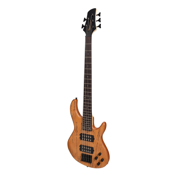 Tokai 'Legacy Series' 5-String Mahogany & Spalted Maple T-Style Contemporary Electric Bass Guitar (Natural Satin)-TL-CB4/5-NS