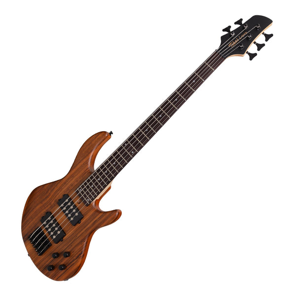 Tokai 'Legacy Series' 5-String Mahogany & Zebrano T-Style Contemporary Electric Bass Guitar (Natural Satin)-TL-CB2/5-NS