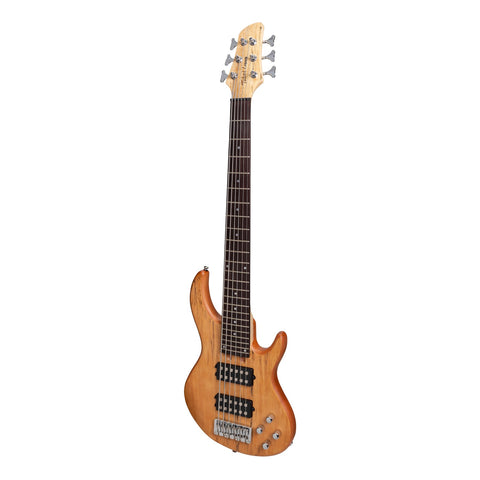 Tokai 'Legacy Series' 6-String Mahogany T-Style Contemporary Electric Bass Guitar (Natural Satin)-TL-CB1/6-NA