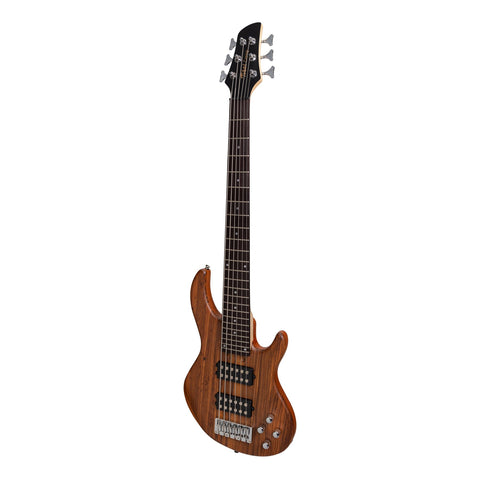 Tokai 'Legacy Series' 6-String Mahogany & Zebrano T-Style Contemporary Electric Bass Guitar (Natural Satin)-TL-CB2/6-NS