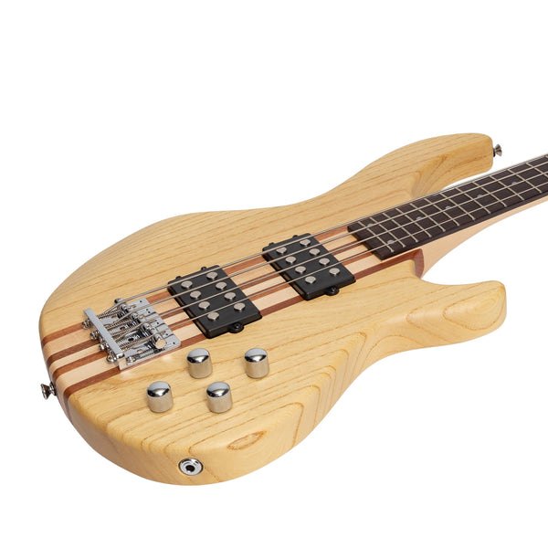 Tokai 'Legacy Series' Ash Neck-Through Contemporary Electric Bass Guitar (Natural Satin)-TL-CTNB3-NA