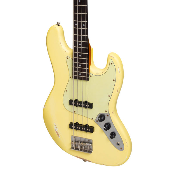 Tokai 'Legacy Series' JB-Style 'Relic' Electric Bass (Cream)-TL-JBR-CRM