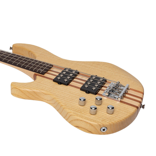 Tokai 'Legacy Series' Left Handed Ash Neck-Through Contemporary Electric Bass Guitar (Natural Satin)-TL-CTNB3L-NA