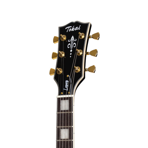 Tokai 'Legacy Series' Left Handed LP-Custom Style Electric Guitar (Black)-TL-LCL-BB
