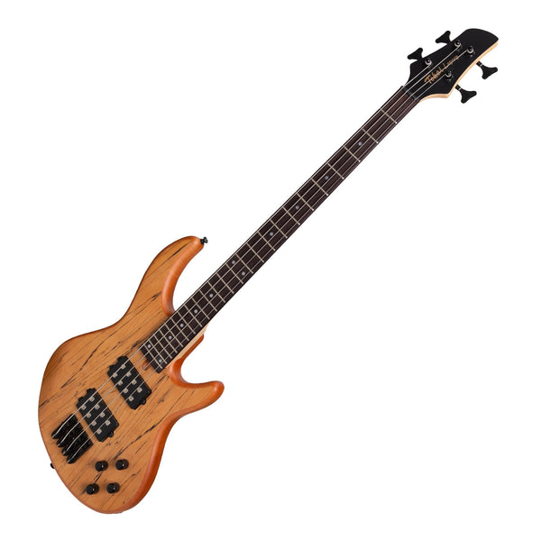 Tokai 'Legacy Series' Mahogany & Spalted Maple T-Style Contemporary Electric Bass Guitar (Natural Satin)-TL-CB4-NS