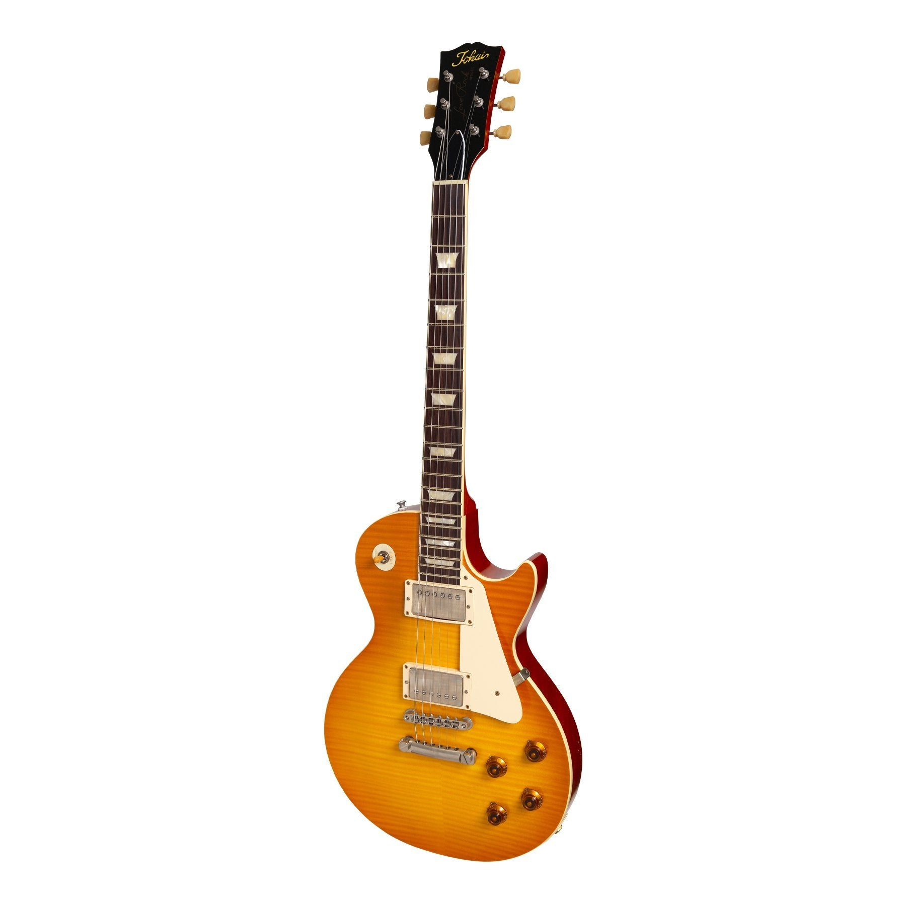 Tokai 'Premium Series' LS-212F AAAA Flame Top LP-Style Electric Guitar (Honey Burst)-LS-212F-C/HB
