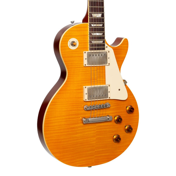 Tokai 'Premium Series' LS-212F AAAA Flame Top LP-Style Electric Guitar (Vintage Lemon Drop)-LS-212F-C/LD