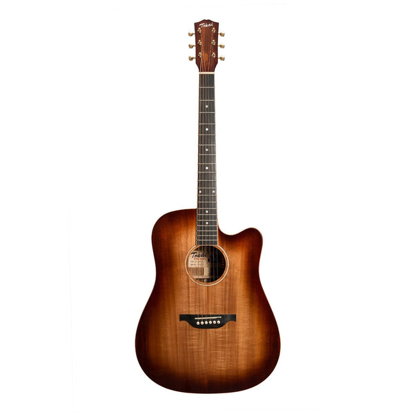 Tokai 'Terra Nova' K5 Dreadnought Cutaway Acoustic-Electric Guitar (Bourbon Fade Natural Gloss)-TT-K5C2-NG