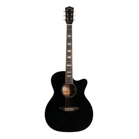Tokai 'Terra Nova' S4 Contemporary Cutaway Acoustic-Electric Guitar (Black Gloss)-TT-S4F2-BKGL