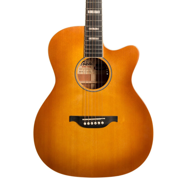 Tokai 'Terra Nova' S4 Contemporary Cutaway Acoustic-Electric Guitar (Honey Burst)-TT-S4F2-HBGL