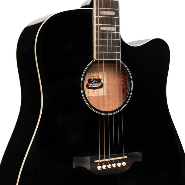 Tokai 'Terra Nova' S4 Dreadnought Cutaway Acoustic-Electric Guitar (Black Gloss)-TT-S4C2-BKGL