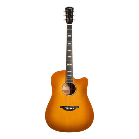 Tokai 'Terra Nova' S4 Dreadnought Cutaway Acoustic-Electric Guitar (Honey Burst)-TT-S4C2-HBGL