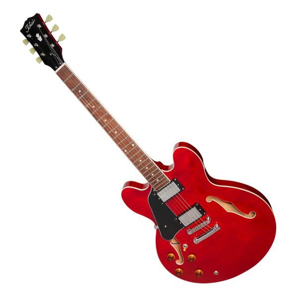Tokai 'Traditional Series' ES-83L Left-Handed ES-Style Hollow Body Electric Guitar (See Through Red)-ES-83L-SR