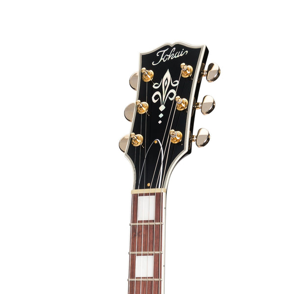 Tokai 'Vintage Series' LC-146SL Left Handed LP-Custom Style Electric Guitar (Black)-LC-146SL-BB