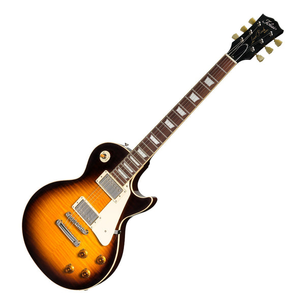 Tokai 'Vintage Series' LS-136F Flame Top LP-Style Electric Guitar (Brown Sunburst)-LS-136F-BS