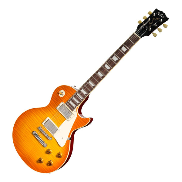 Tokai 'Vintage Series' LS-136F Flame Top LP-Style Electric Guitar (Violin Finish)-LS-136F-VF