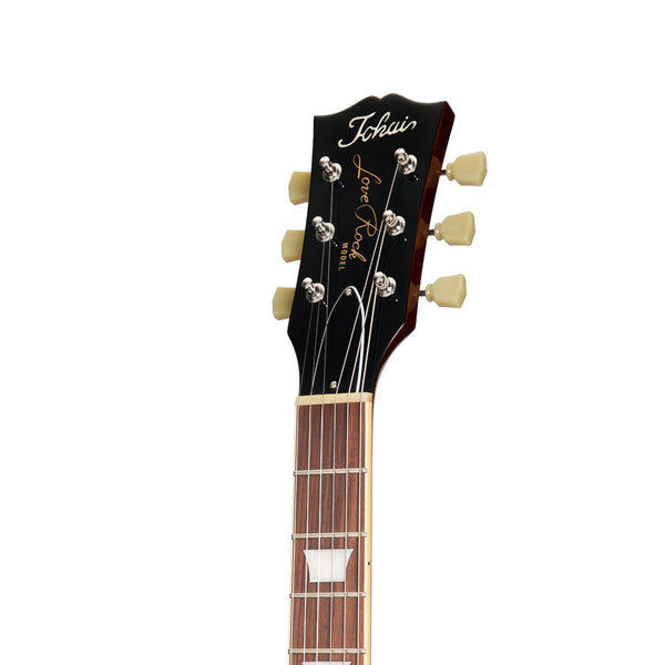 Tokai 'Vintage Series' LS-146FL Left Handed Flame Top LP-Style Electric Guitar (Violin Finish)-LS-146FL-VF