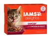 IAMS Delights Cat Wet Senior Gravy 12x85g