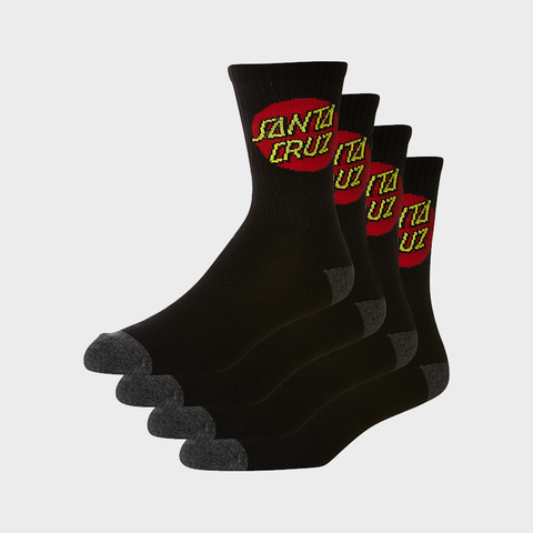 Santa Cruz Youth Sock OSFA - Black