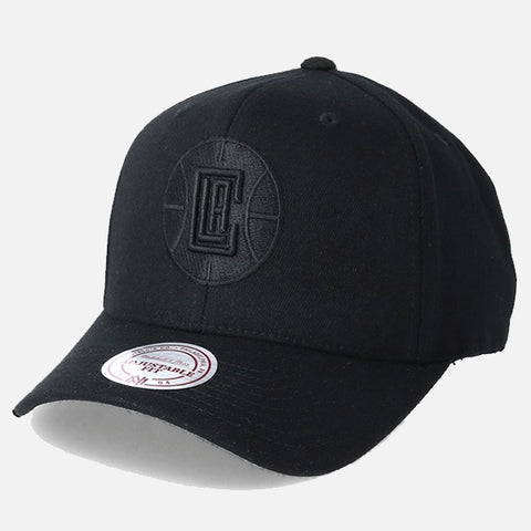 Mitchell & Ness LA Clippers 110 Snapback - All Black Logo
