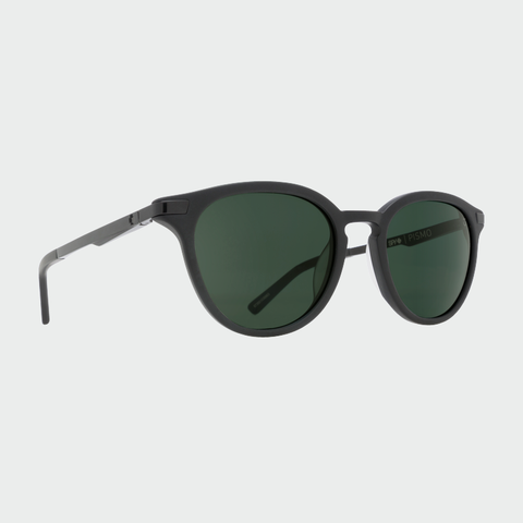 Spy Sunglasses Pismo Matte Black Happy Grey Green