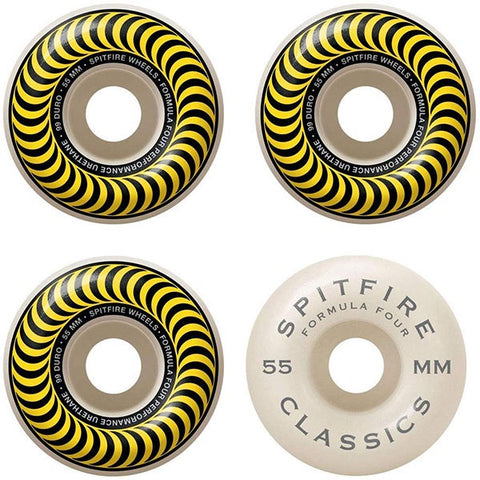Spitfire Wheels F4 99 Classic Yellow 55mm