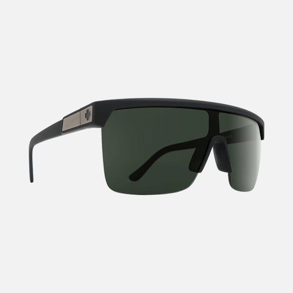 Spy Sunglasses Flynn 5050 - Soft Matte Black HD Plus Grey Green