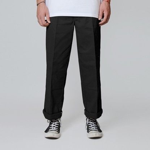 Dickies Loose Fit Double Knee Pants - Black