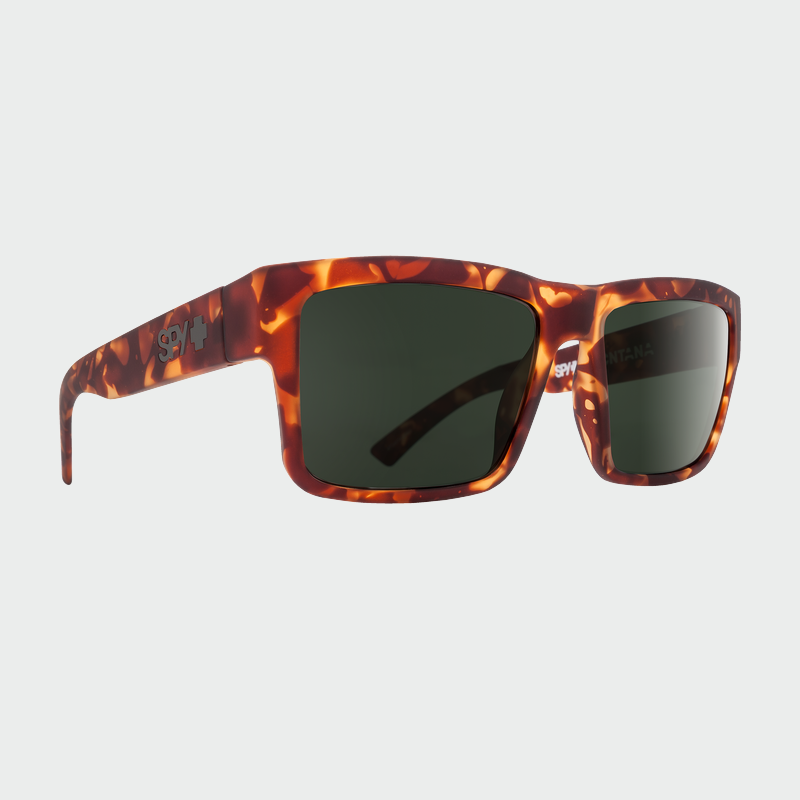 Spy Sunglasses Montana - Soft Matte Camo Tort Happy Grey Green