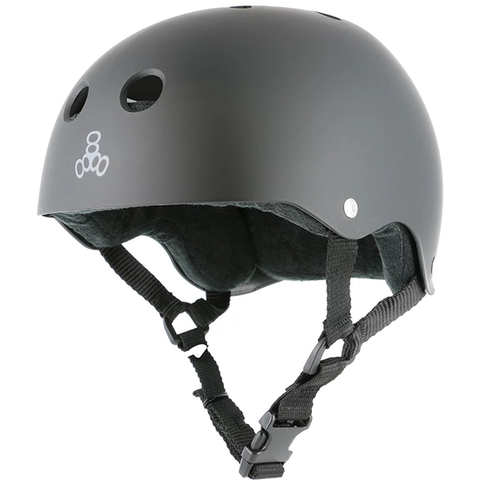 Triple 8 Sweat Saver Skate Helmet | Black