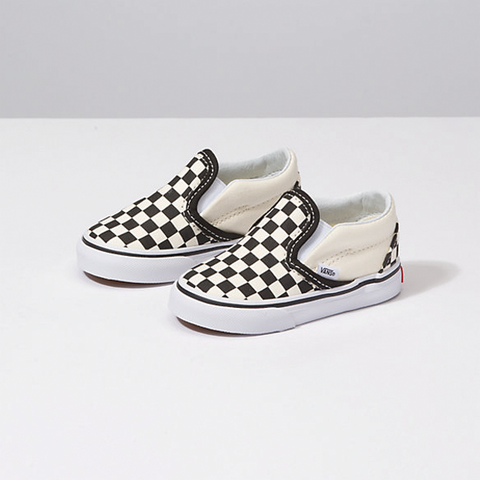 Vans Classic Slip On Toddler - Blk/Wht Checker