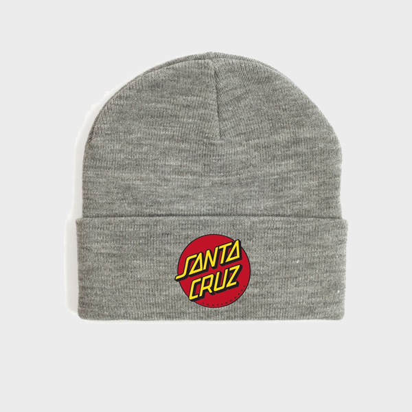 Santa Cruz Classic Patch Youth Beanie - Grey