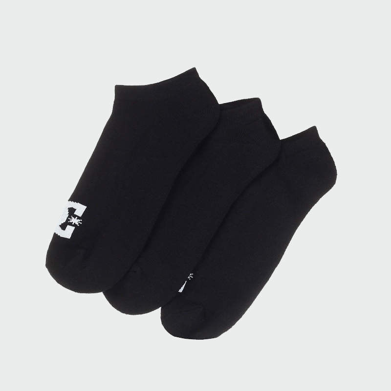 Black DC Ankle socks with logo on the toes.