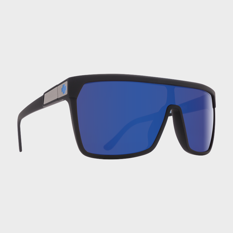 Spy Sunglasses Flynn - Soft Matte Black Happy Bronze Dark Blue Spectra
